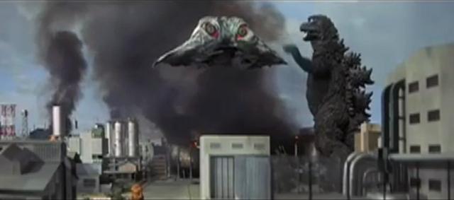 File:Godzilla vs. Hedorah 1 - Godzilla fighting Flying Hedorah.png