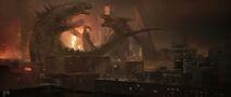 Concept Art - Godzilla 2014 - Godzilla vs. MUTO 5