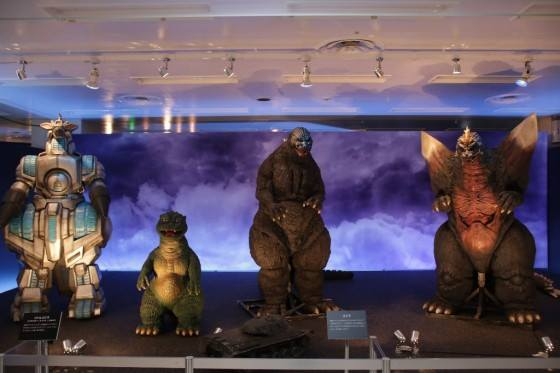 File:Great Godzilla 60 Years Special Effects Exhibition - MOGUERA, Little Godzilla, Godzilla and SpaceGodzilla.jpg