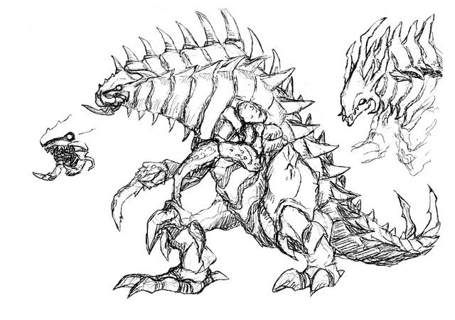 File:Concept Art - Godzilla 2000 Millennium - Orga 81.png
