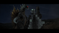 Godzilla and Gigan tear through a building a la King Kong vs Godzilla