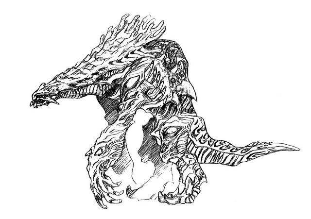 File:Concept Art - Godzilla 2000 Millennium - Orga 73.png