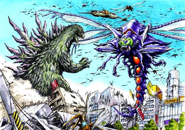 File:Concept Art - Godzilla vs. Megaguirus - Godzilla vs. Megaguirus 1.png