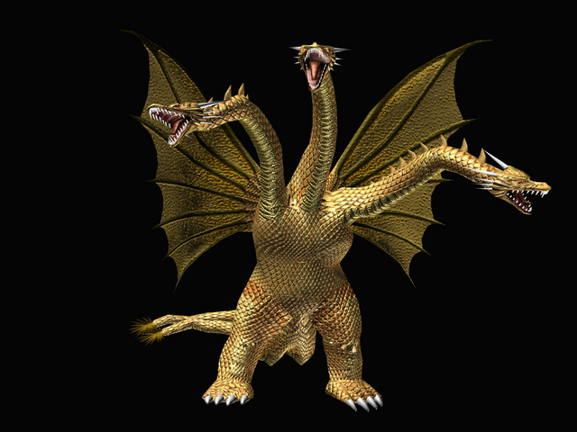 File:GDAMM Artwork - King Ghidorah.png