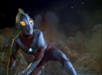 Ultraman defending the Solar System against Tyrant on Uranus