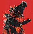 GVD - Godzilla in Red Background