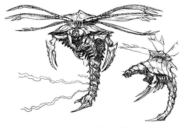 File:Concept Art - Godzilla vs. Megaguirus - Megaguirus 9.png