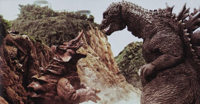 File:GMK - Godzilla Stares At Baragon.jpg