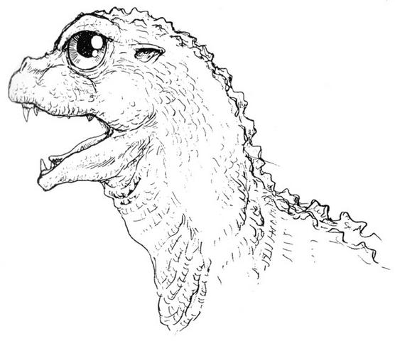 File:Concept Art - Godzilla vs. MechaGodzilla 2 - Baby Godzilla Head 3.png