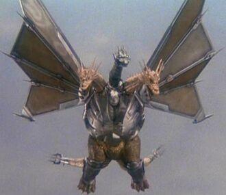 Mecha-King Ghidorah in Godzilla vs. King Ghidorah (click to enlarge)