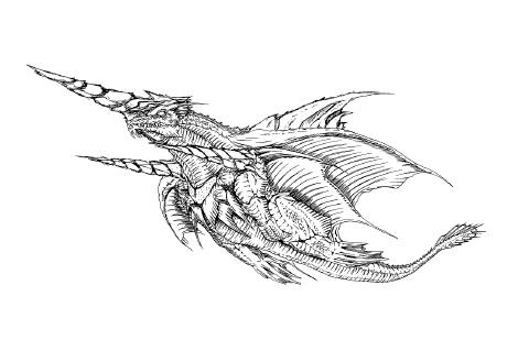 File:Concept Art - Rebirth of Mothra 2 - Dagahra 2.png