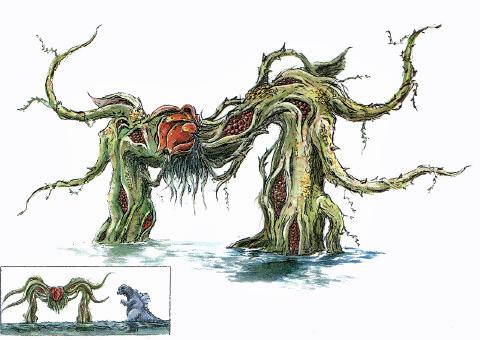 File:Concept Art - Godzilla vs. Biollante - Biollante Rose 14.png