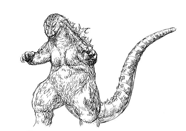 File:Concept Art - Godzilla 2000 Millennium - Godzilla 9.png