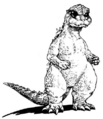 Concept Art - Godzilla vs. SpaceGodzilla - Little Godzilla 1