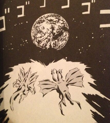 File:Gigan and Ghidorah heading to earth.JPG