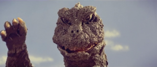 File:All Monsters Attack - Godzilla gets ready to kill Ichiro.png