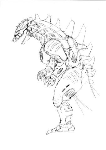 File:Concept Art - Godzilla Against MechaGodzilla - Kiryu 44.png