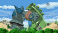 Golurk vs. Mecha Tyranitar