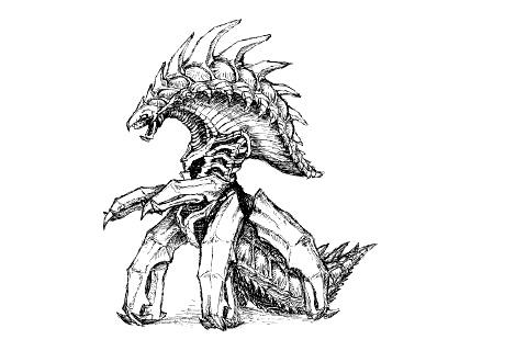 File:Concept Art - Godzilla 2000 Millennium - Orga 17.png