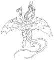 Concept Art - Godzilla Final Wars - Keizer Ghidorah 2