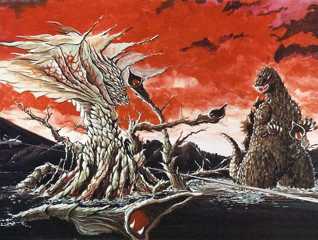 File:Concept Art - Godzilla vs. Biollante - Godzilla vs. Rose Biollante 1.png
