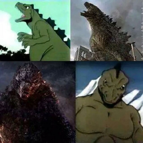 File:Pose Comparison - HB Godzilla vs. LP Godzilla.png