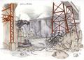 Concept Art - Godzilla Final Wars - Refinery