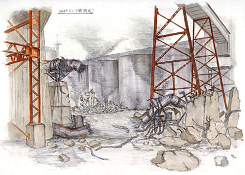 File:Concept Art - Godzilla Final Wars - Refinery.png