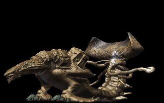 A Vagnosaurus render from Godzilla Trading Battle