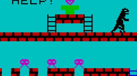 GODZILLA & THE MARTIANS (ZX Spectrum 16K 48K) Gameplay
