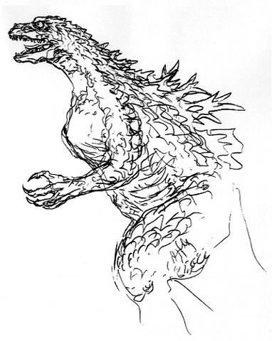 File:Concept Art - Godzilla 2000 Millennium - Godzilla 16.png