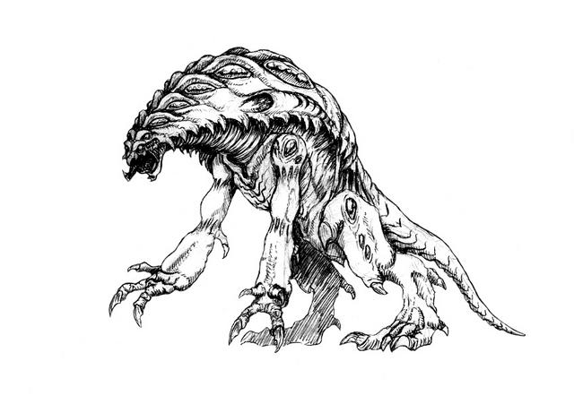 File:Concept Art - Godzilla 2000 Millennium - Orga 104.png