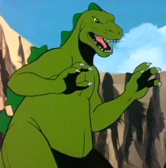 Godzilla as he is seen in The Godzilla Power Hour (click to enlarge)