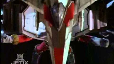 Power Rangers Lost Galaxy - Red Armored Power Ranger Transformation-0