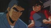 Saburo tenma anime with his dad