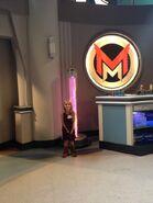 Mia Talerico on Mighty Med set