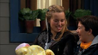 Charlie pucking milk on teddy