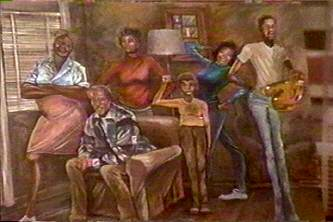 File:Good Times Evans family painting.jpg