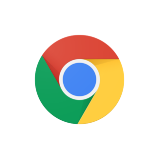 The new Google Chrome logo since 2015.