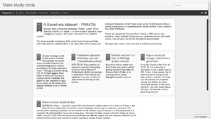 Screen shot of blogger showing the dynamic design view