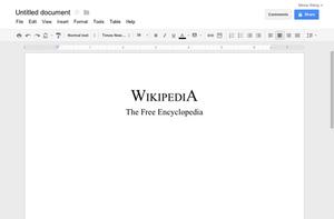 Google Docs - example document