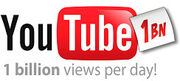 YouTube 1bn views
