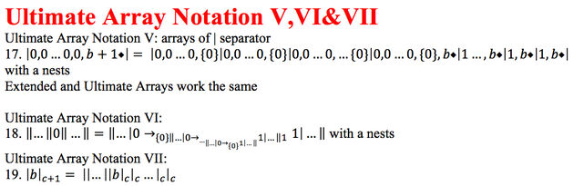 Ultimate Array Notation 4 and 5