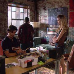 Jenny talking to Rufus