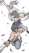 Young Jinhong practising swordsmanship2