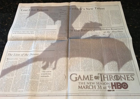 Game of Thrones Newspaper