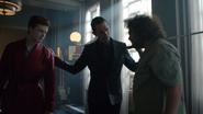 Theo coming between Jerome and Robert Greenwood