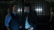 Nathaniel Barnes talks with Harvey Bullock