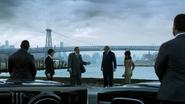 Sal Maroni, Carmine Falcone, Oswald Cobblepot and Fish Mooney - Penguin's Umbrella