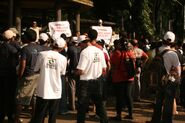 PMPML protest and T-shirts